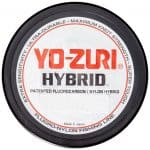 "Picture of the top of a spool of fishing line. The top of the spool says ""Yo-Zuri Hybrid"""