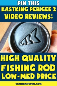 KastKing Logo on Fishing Rod Tube, Text Overlay About Video Reviews